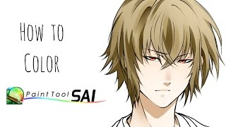 |How I color on Paint Tool Sai!| Step-by-Step~