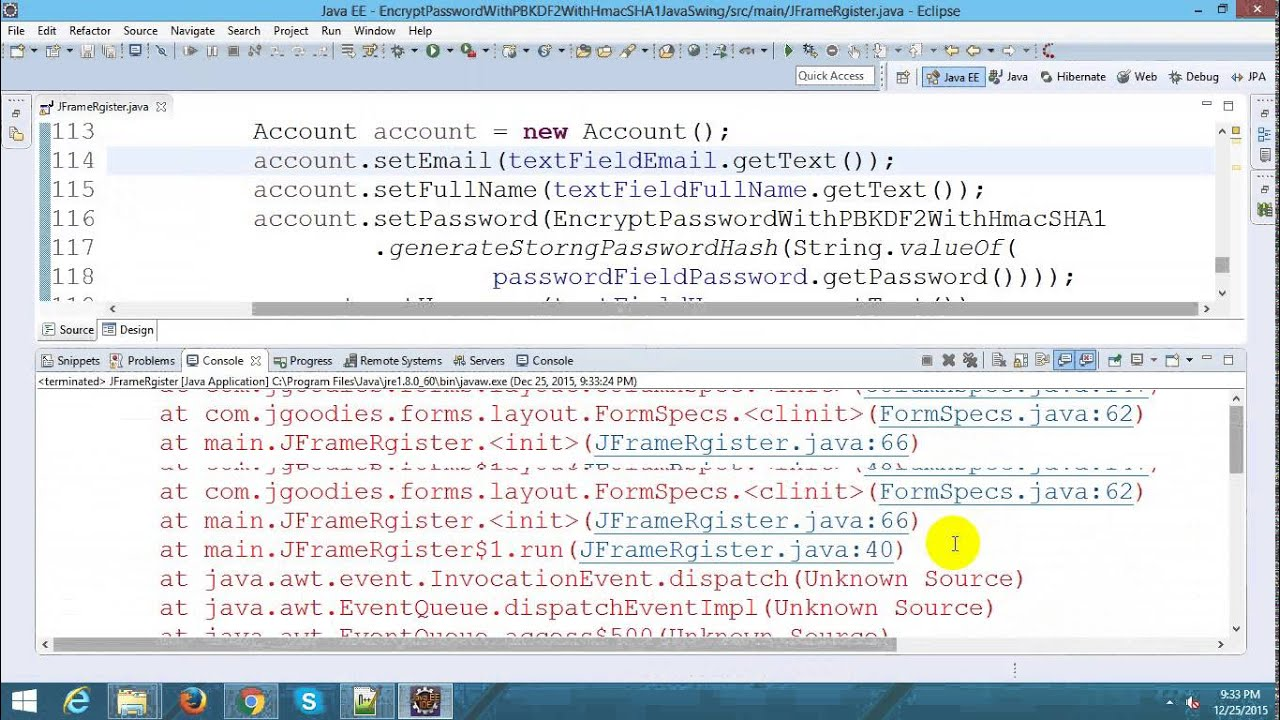 Encrypt Password in Login Form with Java Swing and Hibernate - YouTube