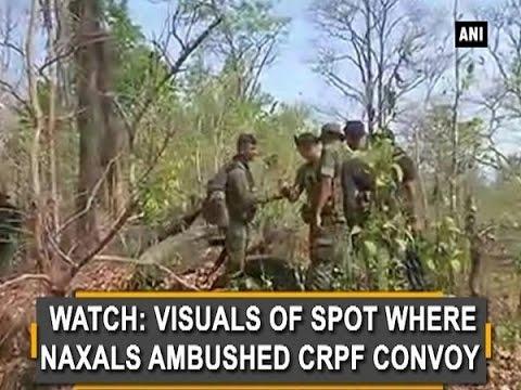 Watch: Visuals of spot where Naxals ambushed CRPF convoy - Chhattisgarh News