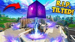 CUBE *DESTROYS* BUILDING IN TILTED TOWERS! - Fortnite Funny Fails and WTF Moments! #326