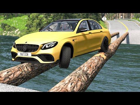 Cars vs Log Bridge #2 – BeamNG.Drive