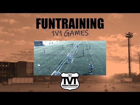Fun Technical Football training - games 1v1 - Club Brugge Academy - Thomas Vlaminck Techniektraining
