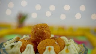 Bokeh shot of a delicious bowl of sweets on the occasion of Diwali - the festival of India