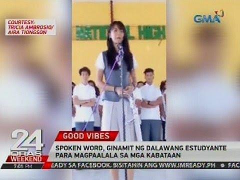 24 Oras: Spoken word, ginagamit ng dalawang estudyante para magpaalala sa mga kabataan