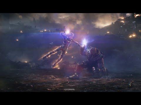 Капитан Марвел против Таноса. Финальная битва. Часть 4   Мстители: Финал   Full HD