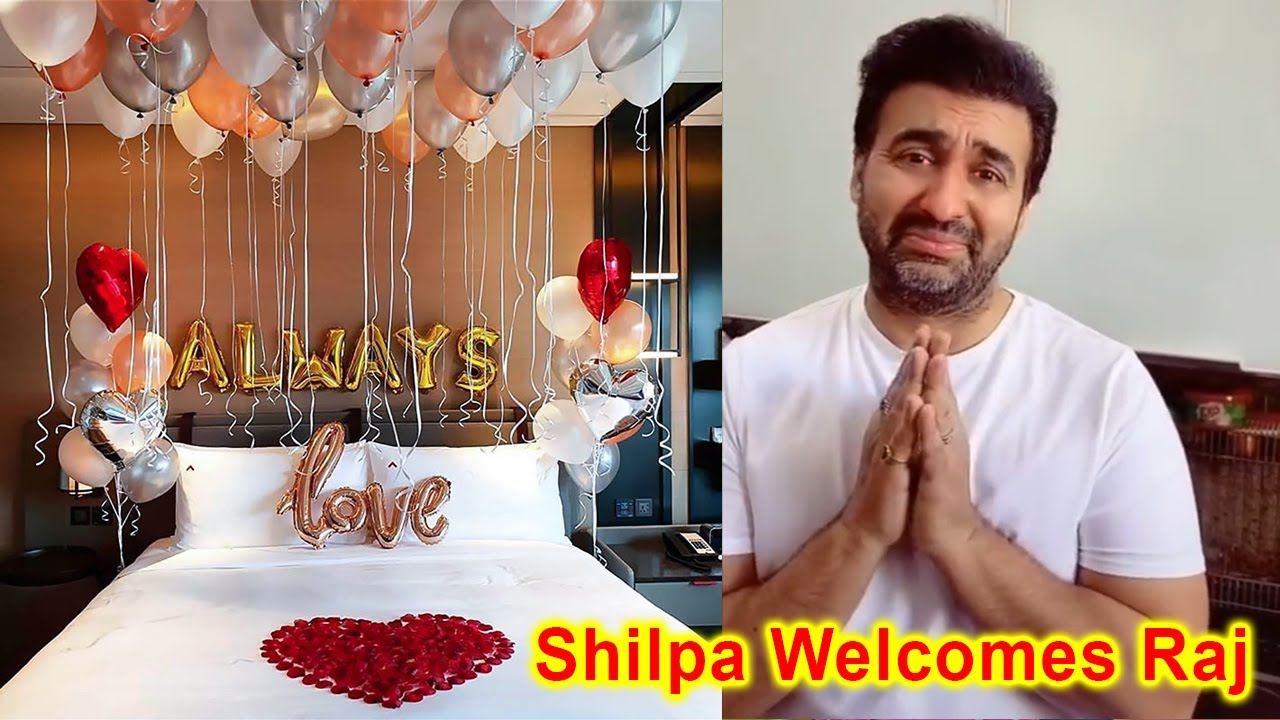 Download Shilpa Shetty Grand Welcome of Raj Kundra after coming home from jail