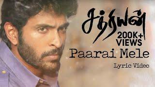Paarai Mele - Sathriyan | Official Lyric Video | Yuvan Shankar Raja | Vikram Prabhu, Manjima Mohan