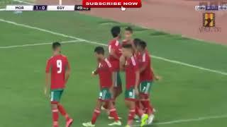 ملخص اهداف مباراة المغرب ومصر 3- 1  شاشة كاملة  تصفيات كأس افريقيا 18 08 2017 HD