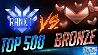 Top 500 DPS God TROLLS Bronze Players: MELEE ONLY TRACER?!
