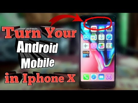 Convert Your Android Mobile into Iphone X Completely in 4 min 😍