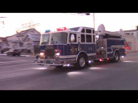 North Arlington, Nj Fire Department Engine 1 Responding On Belleville Turnpike