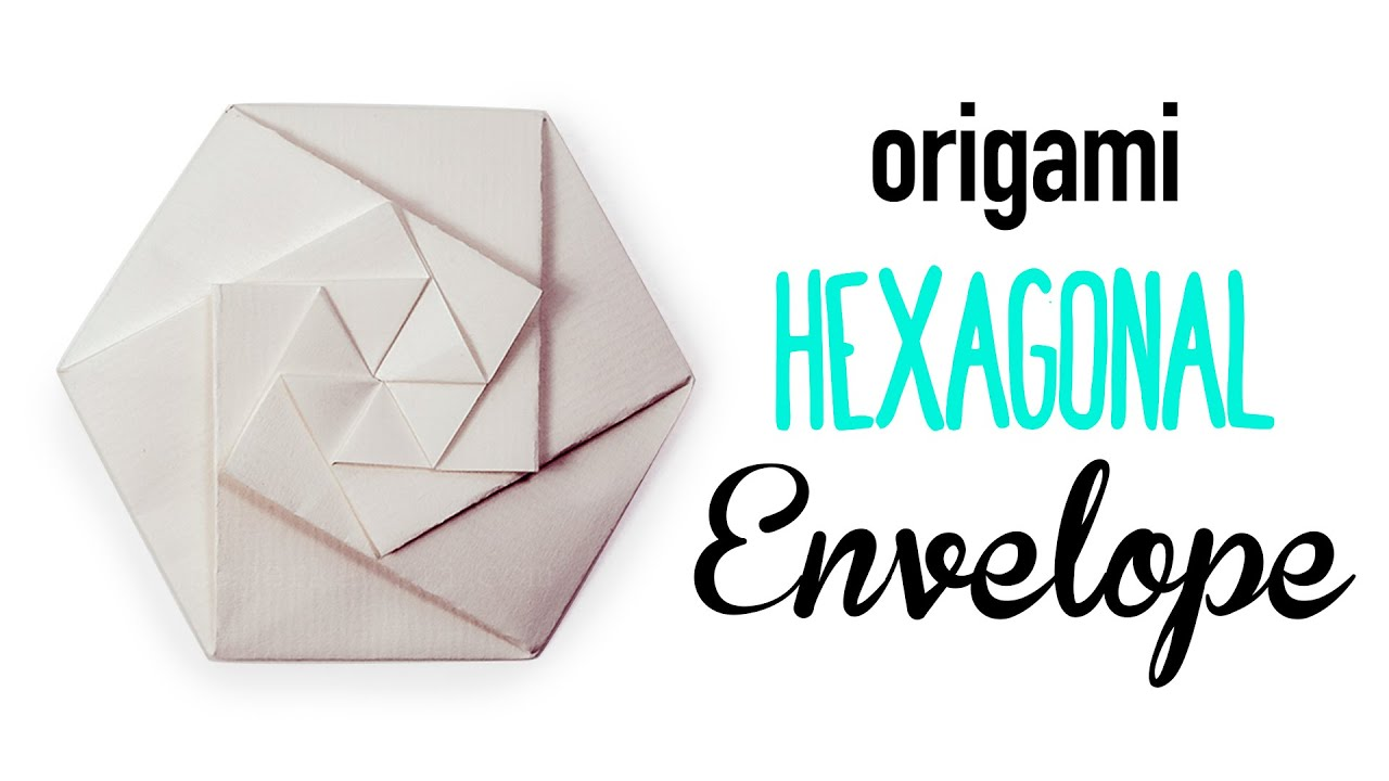 Origami Hexagonal Envelope Pouch Tutorial DIY