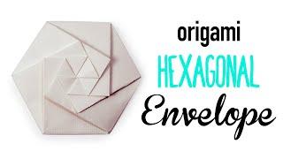 Origami Hexagonal Envelope / Pouch Tutorial ⬢ DIY ⬢