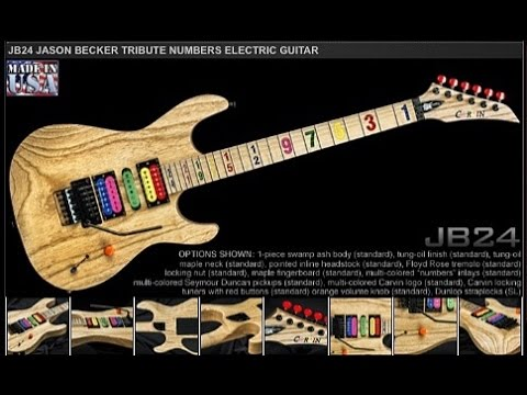 Jason Becker the Making of the JB24 Carvin Guitars Numbers Tribute Guitar