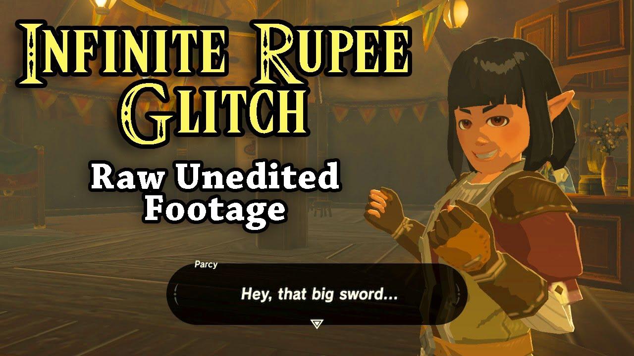 BotW Infinite Rupees Glitch | Raw Unedited Footage