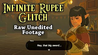 Infinite Rupees Glitch BotW | Raw Unedited Footage