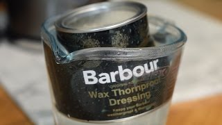 How to wax your Barbour Jacket. Waterproofing wax thornproof dressing for wax jackets.