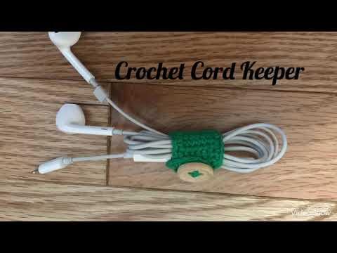 Crochet Cord Keeper | Truc Nguyen Handmade.