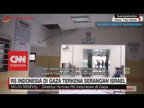RS Indonesia Di Gaza Terkena Serangan Israel