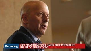 David Solomon In Line to Be Next Goldman Sachs CEO