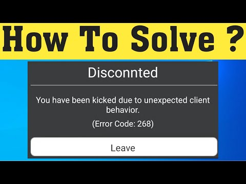 How To Fix Roblox Error Code 268 Unexpected Client Bux Gg Site Fix Roblox Disconnected You Have Been Kicked Due To Unexpected Client Behavior Error Code 268 Youtube