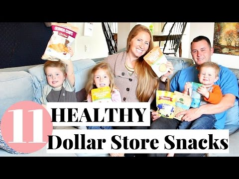 HEALTHY Dollar Store Taste Test | 11 Healthy Snacks from the Dollar Store!