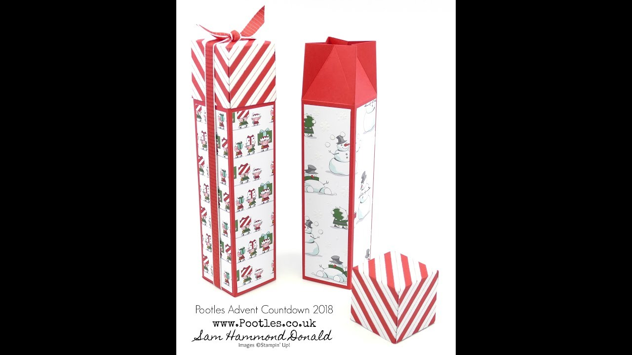 Download Pootles Advent Countdown 2018 #17 Tall Santa's Workshop Hidden Lidded Box