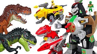 Giant dinosaurs attacked Super Wings! Power Rangers green dragon robot transform! - DuDuPopTOY