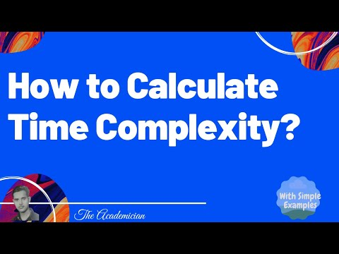 Computer algorithm. How to calculate time complexity?