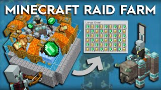 Minecraft Raid Farm - 3300 Emerald Per Hour, Redstone and More - 1.16/1.15