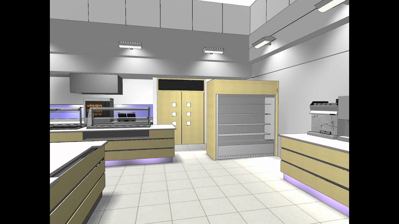 Commercial Kitchen 3D Animation - YouTube