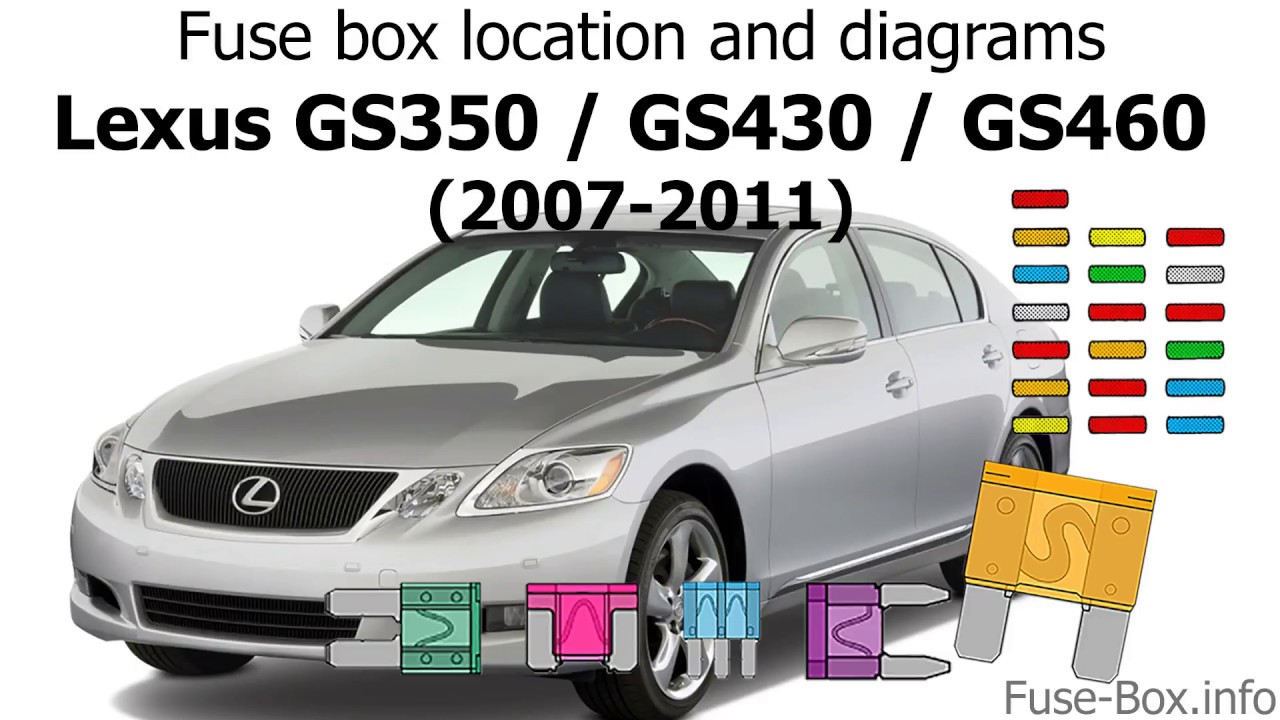 fuse box location and diagrams lexus gs350 gs430 gs460 2006 2011  [ 1280 x 720 Pixel ]