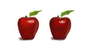 Живописное и Реалистичное Яблоко в Фотошопе (Adobe Photoshop)