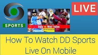 How to watch DD Sports live TV | on Mobile Asia Cup India Pakistan LIVE on DD Sports