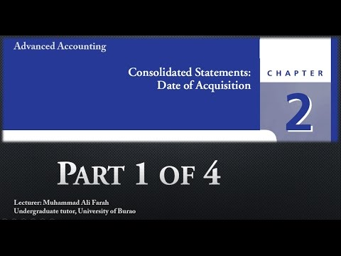 Advanced Accounting: Chapter 2 Consolidated Financial Statements Date of Acquisition 1 of 4
