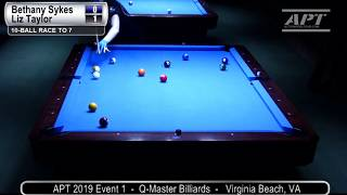 2019 Event 1: Bethany Sykes vs Liz Taylor (Women's Finals)