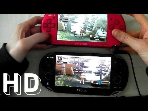 PS VITA vs Sony psp 3000 with Monster Hunter Freedom Unite thumbnail