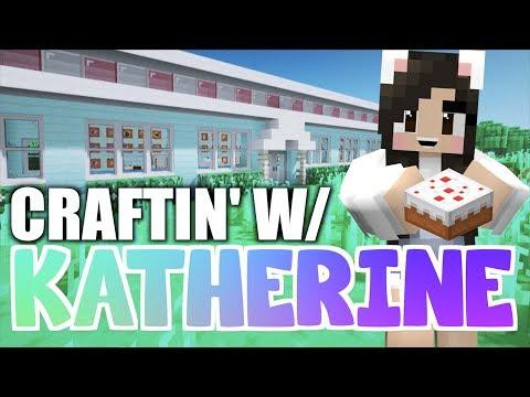 💙MINECRAFT Diner + Pizza Shop! Craftin' w/ Katherine Ep. 17