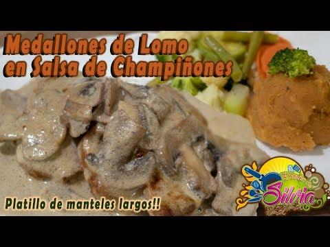 Medallones de Lomo en Salsa de Champiñones - ElSazóndeSilvia