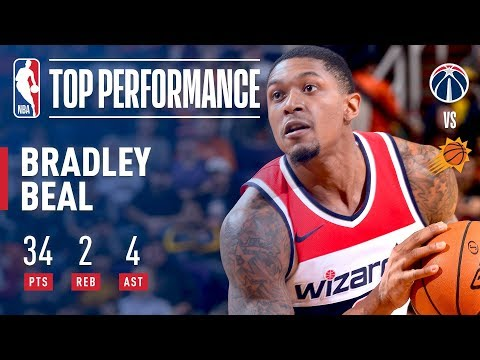 Bradley Beal's 34 Point ELECTRIC Performance vs The Phoenix Suns | December 7, 2017