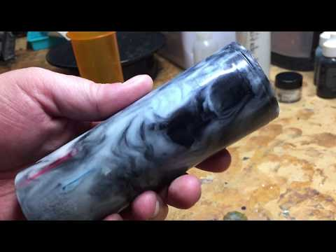 Casting a Polyester Resin Shaving Brush Blank - Imbedded Off-Cuts from Pen Blanks