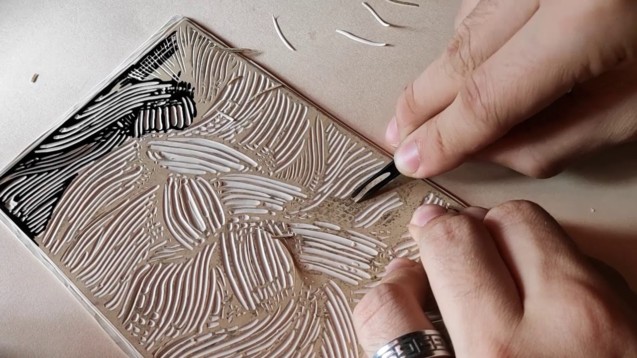 Braid - Linocut Printmaking Process | BARYSTA - YouTube
