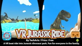 VR Jurassic Ride - A 3D VR bot ride into Jurasisic park. Fun for eveyone in the family.