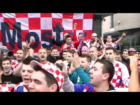 Euro 2012: Kibice Chorwacji W Poznaniu Stary Rynek (14.06.2012)