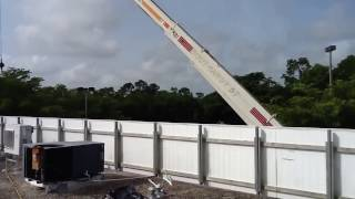 Best way to lift commercial hvac rooftop heating and cooling units