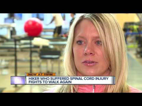 Hiker who suffered spinal cord injury fights to walk again