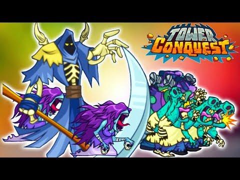 Tower Conquest АРМИЯ МЕРТВЕЦОВ! Игровой мультик для детей про БОИ и СРАЖЕНИЯ на АРЕНЕ
