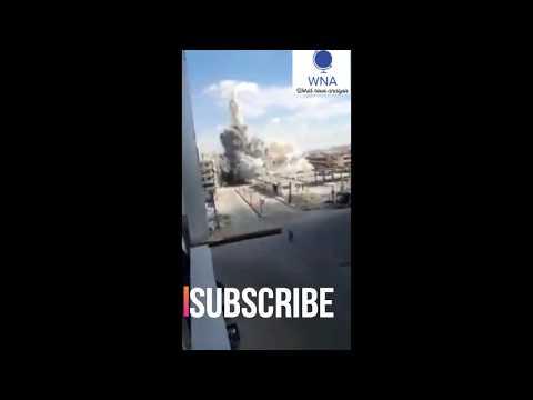 Russian airstrike hit directly  Central Bank Building in Idib , Syria