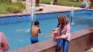 ارتفاع الحرارة يحول نافورة الميريلاند لحمام سباحة.. فيديو