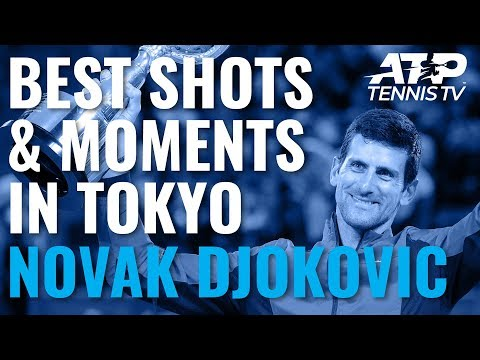 Novak Djokovic Best Moments & Great Shots in Tokyo Title Charge